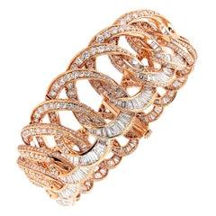 Diamond Rose Gold Link Bracelet