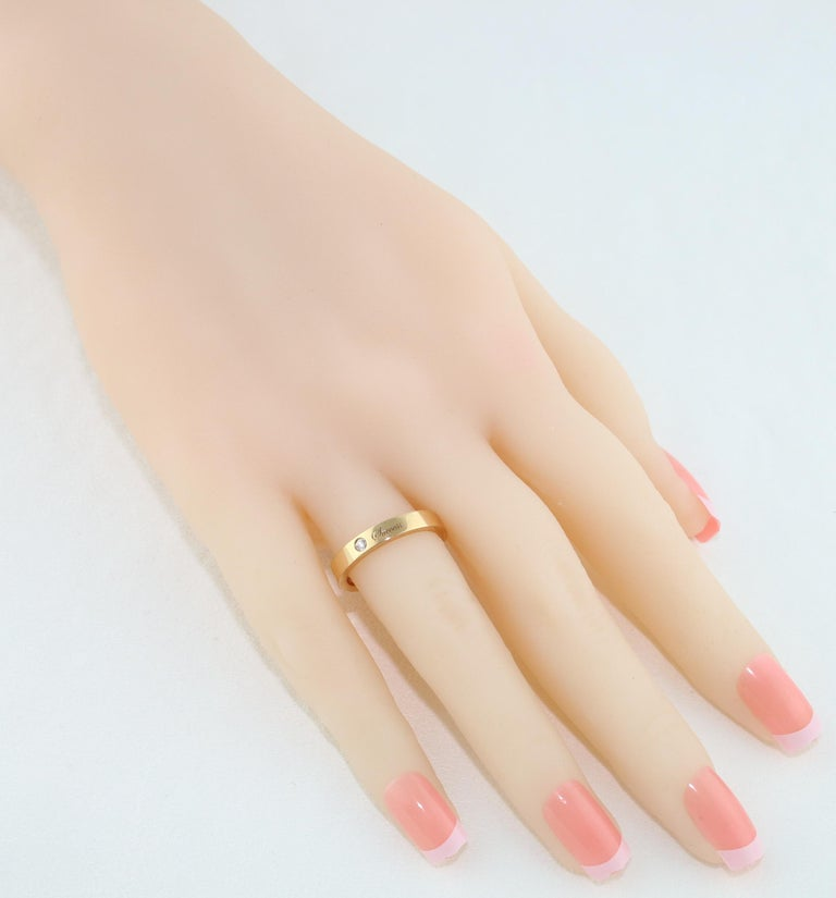 Contemporary Diamond Rose Gold Wedding Band with Inscriptions For Sale