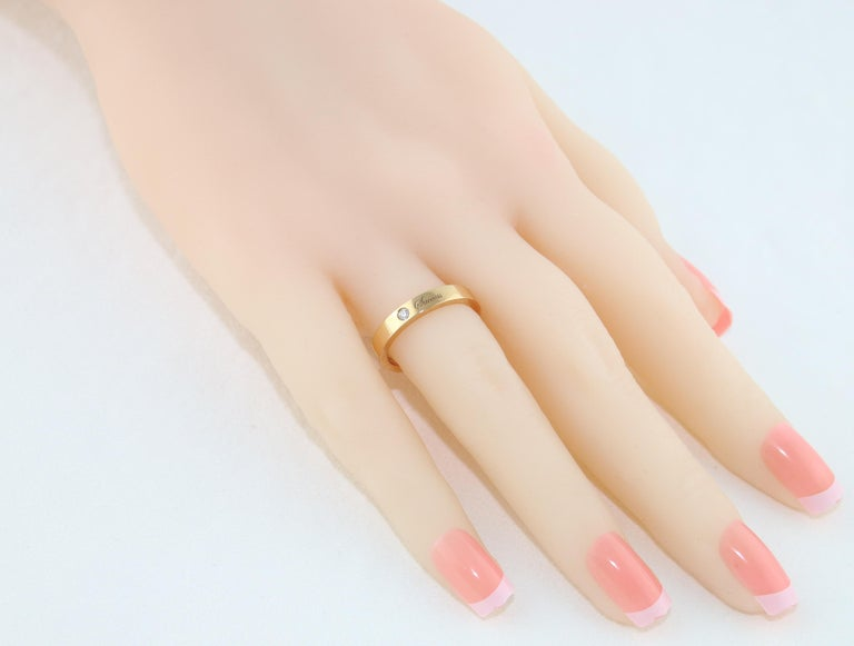 Women's Diamond Rose Gold Wedding Band with Inscriptions For Sale