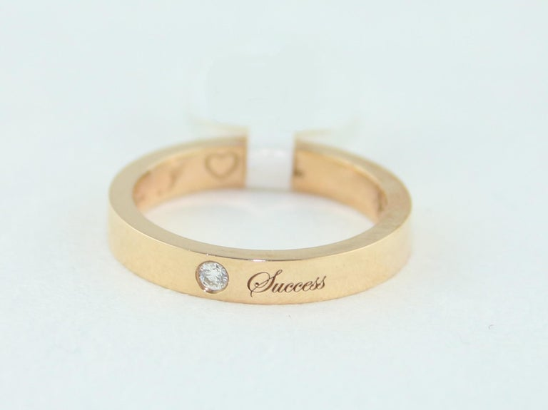 Diamond Rose Gold Wedding Band with Inscriptions For Sale 2
