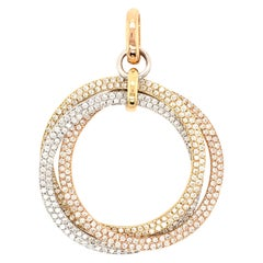 Diamond, Rose Gold, Yellow Gold and White Gold Pendant