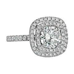 Diamond Round 1.25 Carat Engagement Ring Set in Platinum