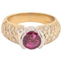 Diamond Ruby 14k White & Yellow Gold Ring 2.33 TCW Ravishing Certified