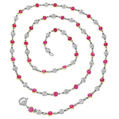 Diamond Ruby by the Yard Necklace