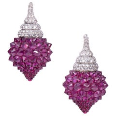 Diamond Ruby Pot Earring