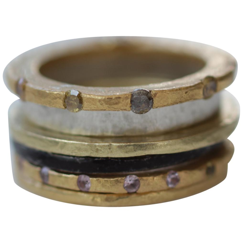 Diamond Sapphire 18K 22K Gold Sterling Silver Wedding Engagement Band Ring #2