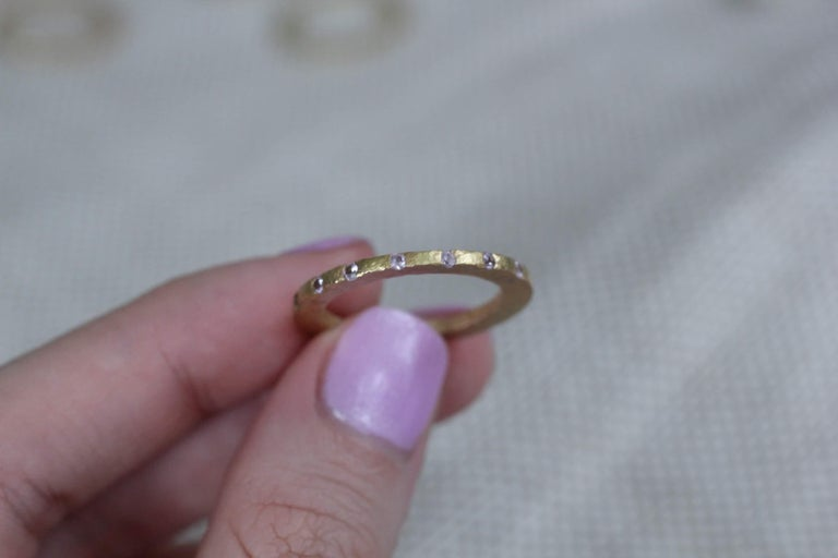 Diamond Sapphire 18K, 22K Gold Silver Ring Stack Fashion Wedding Gift for Her For Sale 4