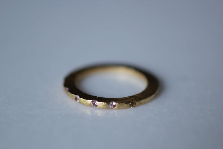 Diamond Sapphire 18K, 22K Gold Silver Ring Stack Fashion Wedding Gift for Her For Sale 1