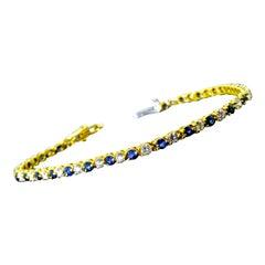 Diamond, Sapphire and 18 Karat Bracelet