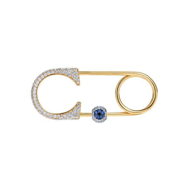 Contemporary Sybarite Jewellery 0.78 Carats White Diamonds 18 Karat White Gold Charm For Sale