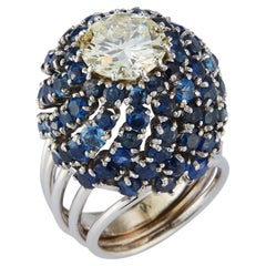 Diamond & Sapphire Cocktail Ring