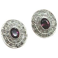 Diamond Sapphire Cufflinks 2.80 Carat Designer Certified