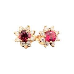Diamond Sapphire Earrings 14 Karat Yellow Gold 0.66 Carat Certified