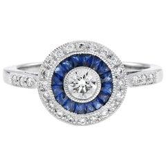 Diamond Sapphire Cocktail Ring