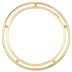 Diamond Saturn Ear Cuff 18 Karat Yellow Gold