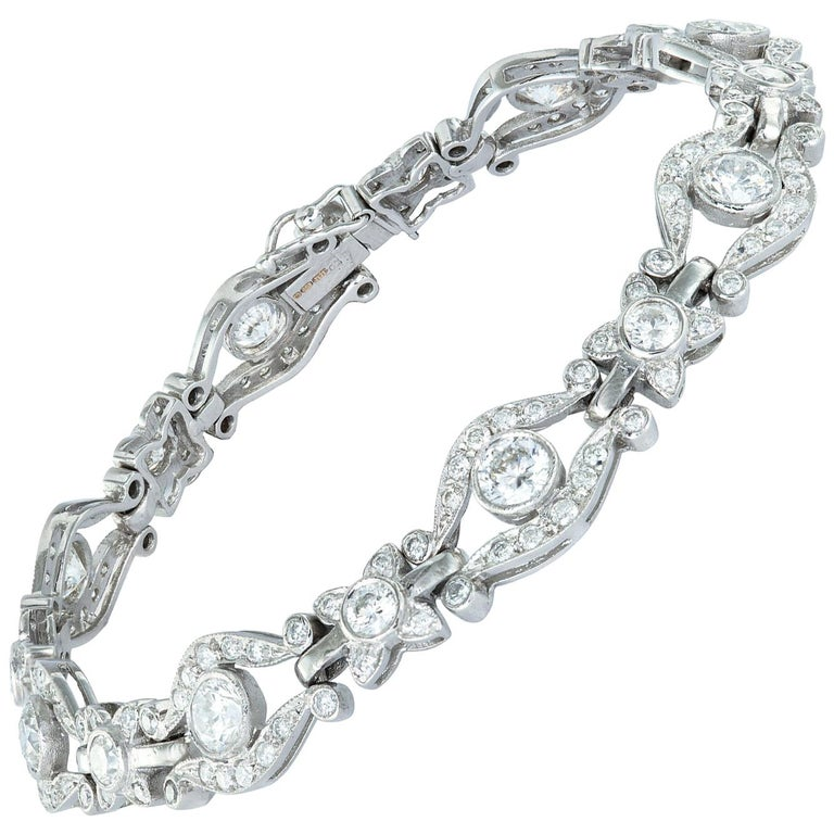 Diamond-Set Bracelet For Sale