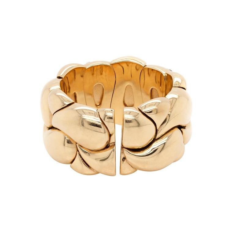 Modern Diamond Set Chopard Casmir 18 Carat Gold Dress Ring For Sale