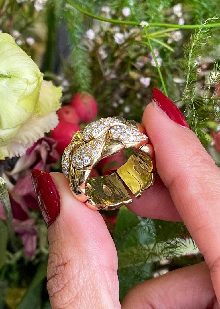 Women's Diamond Set Chopard Casmir 18 Carat Gold Dress Ring For Sale