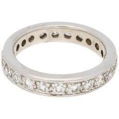 Diamond Set Full Eternity Ring in 18 Carat White Gold 1.52 Carat