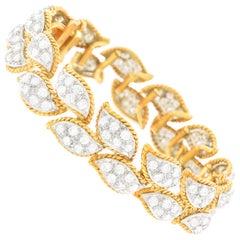 Diamond Set Gold and Platinum Bracelet