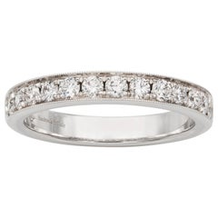 Diamond-Set Half Eternity Ring