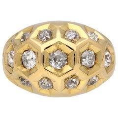 Diamond Set Honeycomb Ring by Cartier, Paris, circa 1944