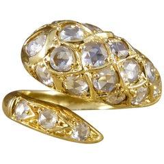 Diamond Set Serpent Snake 18 Carat Gold Ring