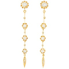 Diamond Set Victorian Earrings