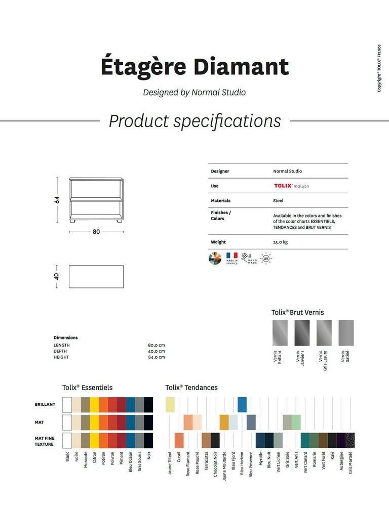 Modern Diamond Shelf in Pop Colors by Normal Studio & Tolix For Sale