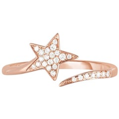 Diamond Shooting Star Band / Ring, 14 Karat Gold, Ben Dannie