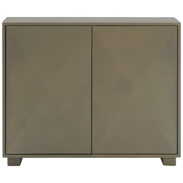 Diamond Side Cabinet in Khaki by Normal Studio & Tolix For Sale