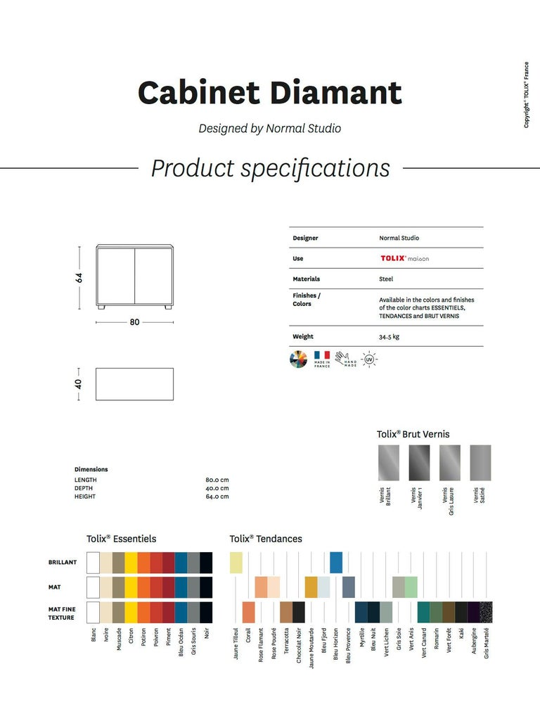 Diamond Side Cabinet in Pop Colors by Normal Studio & Tolix In New Condition For Sale In Autun, FR
