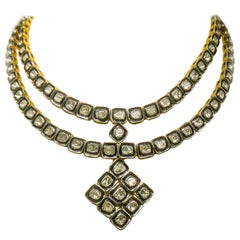 Maharaja 17 Carats Fancy Cut Diamond Necklace Pendant