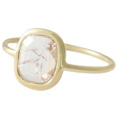Diamond Slice Ring in 18 Karat Gold by Allison Bryan