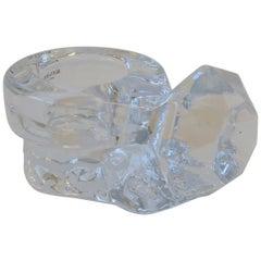 Diamond Solitaire Crystal Jewelry Dish by Kosta Boda Sweden