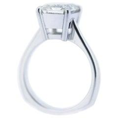 Diamond Solitaire, Emerald Cut, 5 Carat