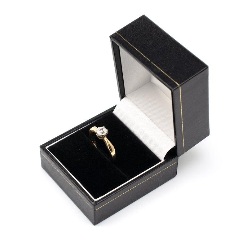 Diamond Solitaire Engagement Ring 0.50 Carat, 18 Karat Yellow Gold For Sale 6