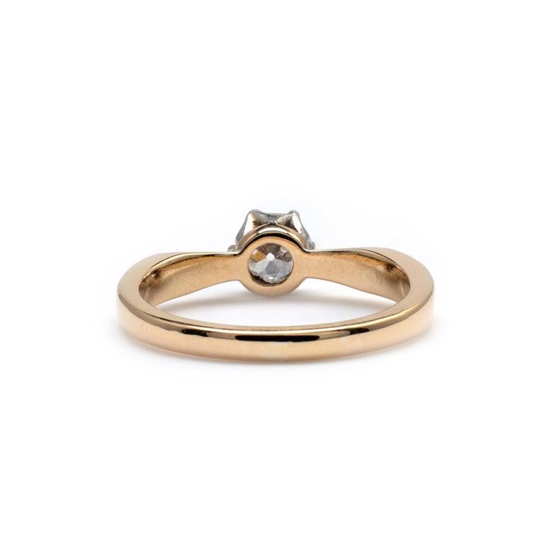 Diamond Solitaire Engagement Ring 0.50 Carat, 18 Karat Yellow Gold For Sale 1
