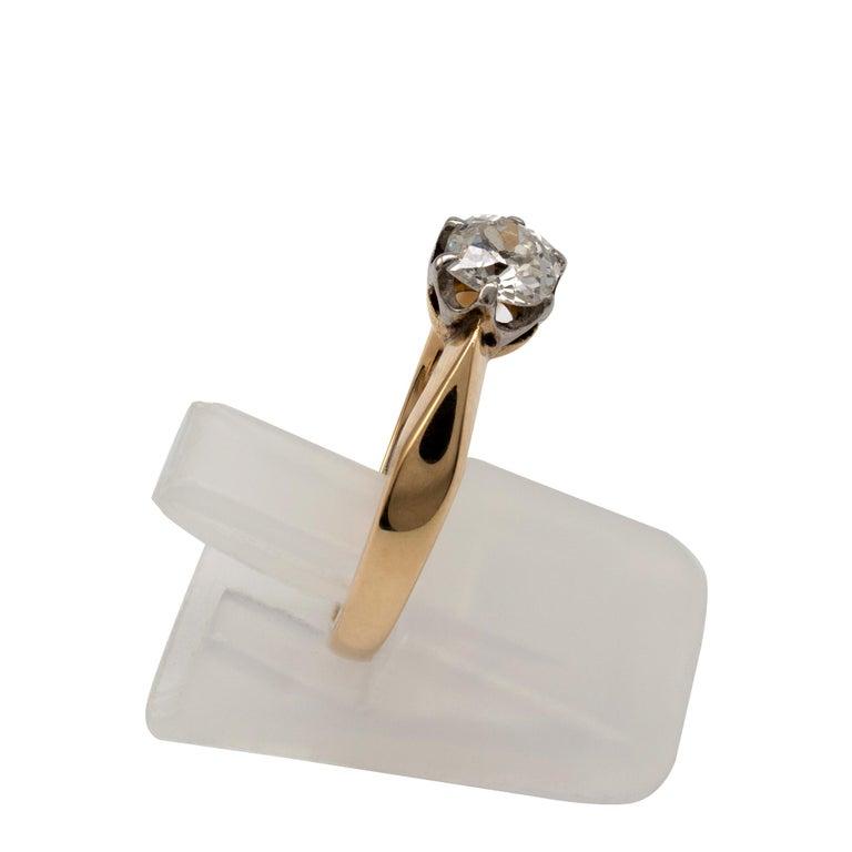 Diamond Solitaire Engagement Ring 0.50 Carat, 18 Karat Yellow Gold For Sale 3