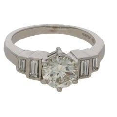 Diamond Solitaire Engagement Ring in Platinum 1.26cts