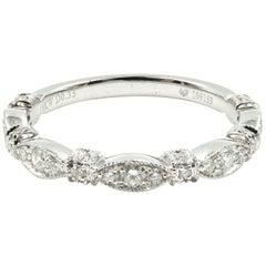Diamond Stackable Band 18 Karat White Gold
