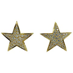 Diamond Star Gold Earrings
