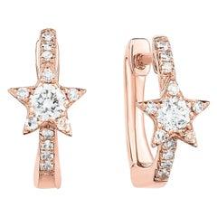 Diamond Star Huggie Studs, Gold, Ben Dannie