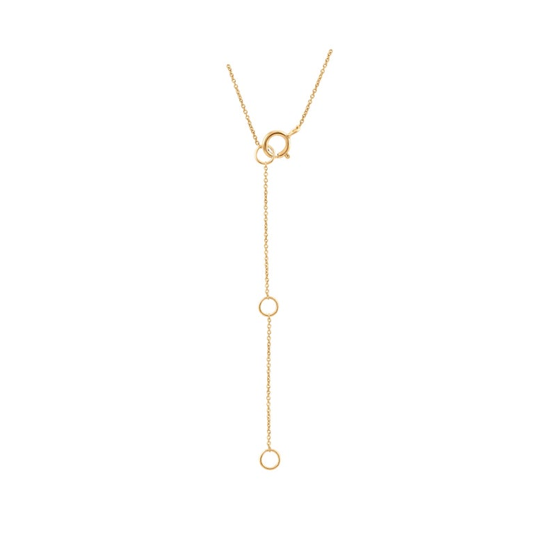 Diamond Star Pendant Necklace 18k Yellow Gold In New Condition For Sale In New York, NY