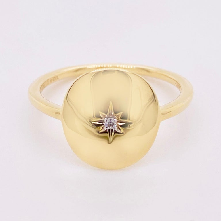 a658 Beautiful 14k Yellow Gold Round Medallion Stating /'A Date to Remember/'