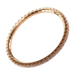 Diamond Stretch Tennis Bracelet in Rose Gold