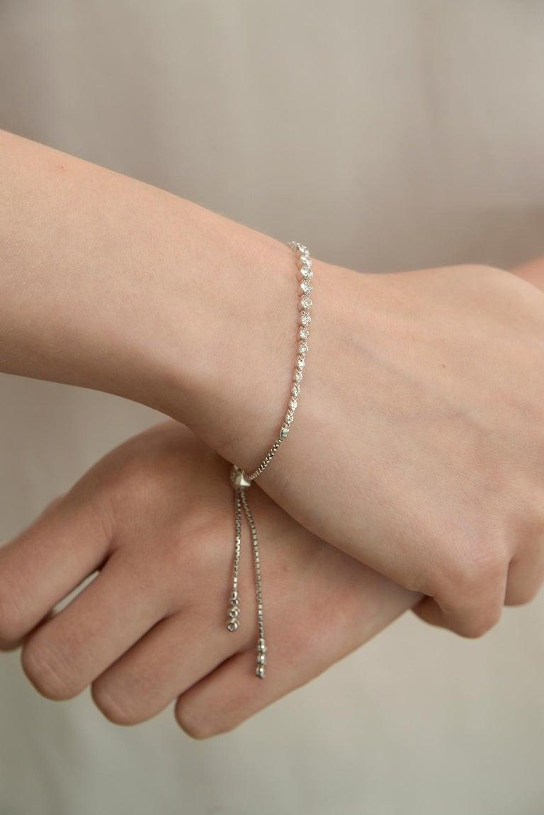 Diamond String Bracelet In New Condition For Sale In Houston, TX