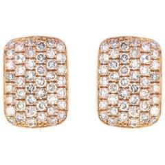 Diamond Stud Earring in 14 Karat Rose Gold