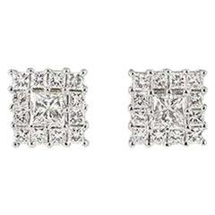Diamond Stud Earrings 0.93 Carat TDW