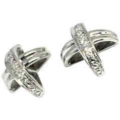 """Diamond Stud Earrings 14k Gold """"X"""" Certified"""